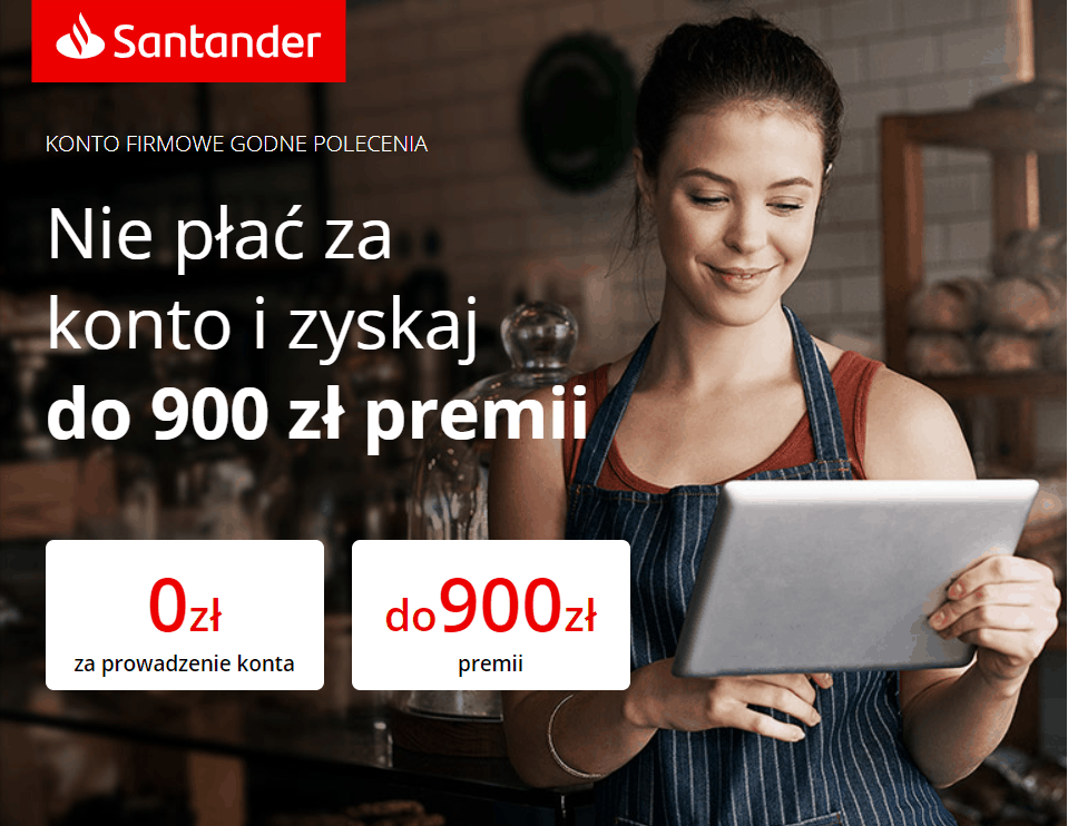 900 zł bonus - konto godne polecenia Santander